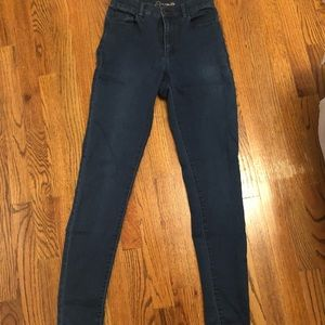 Dark denim high waisted jeans